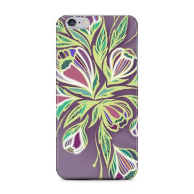 Чехол для iPhone 6 Plus Glowing flowers