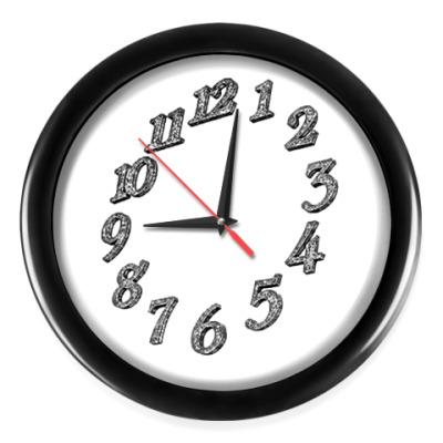 Настенные часы цыфры