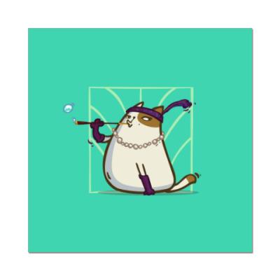 Наклейка (стикер) Кэтсби — Пятничный Котик №33