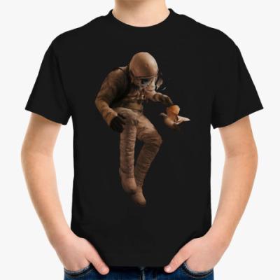 Детская футболка Космонавт с голубем