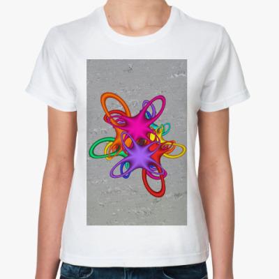 Классическая футболка Цветной акцент