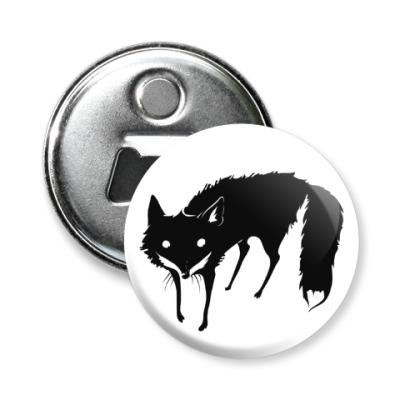 Магнит-открывашка Чёрная лиса