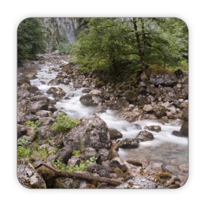 Костер (подставка под кружку) Горная речка, Абхазия