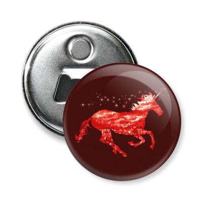 Магнит-открывашка Рубиновый Единорог