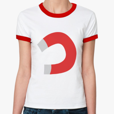 Женская футболка Ringer-T Тянет, как магнитом