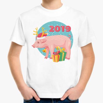Детская футболка Год желтой свиньи 2019