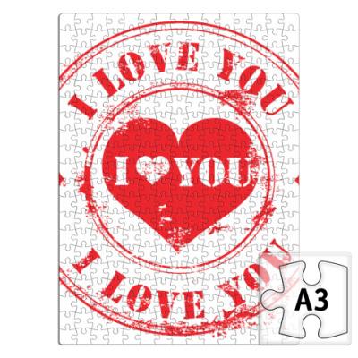 Пазл Печать I Love You