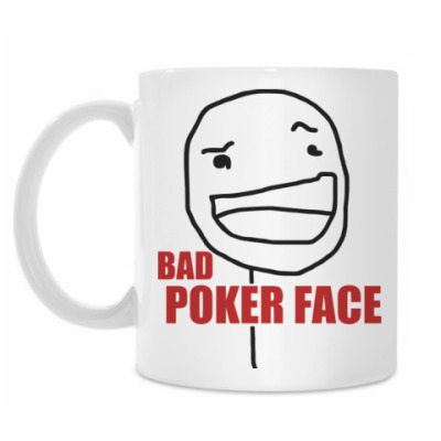 Кружка Bad Poker Face