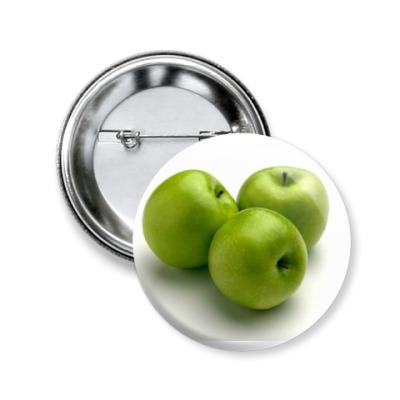 Значок 50мм Яблоки