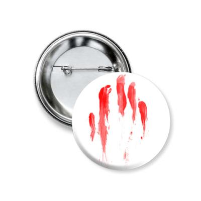 Значок 37мм Кровавый след