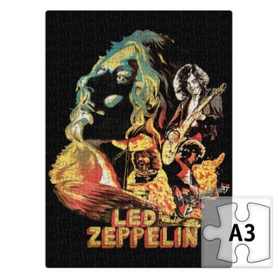 Пазл Led Zeppelin хард-рок группа
