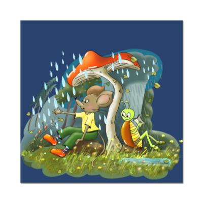 Наклейка (стикер) Под грибочком