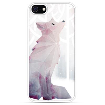 Чехол для iPhone Зимний Лис в снегу Winter fox