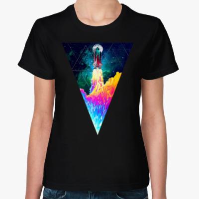 Женская футболка Запуск космического корабля