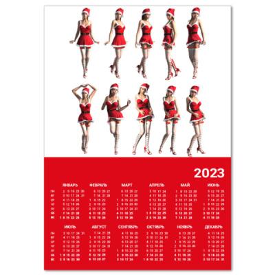 Календарь  A4 Снегурочки*
