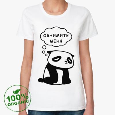 Женская футболка из органик-хлопка Панда