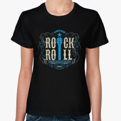 Женская футболка ROCK and ROLL