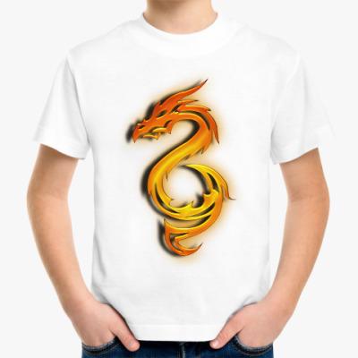 Детская футболка Огненный дракон