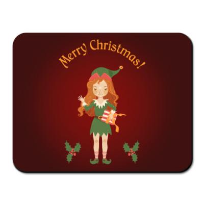 Коврик для мыши Рождественский эльф