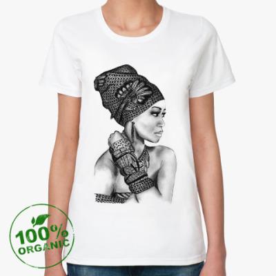 Женская футболка из органик-хлопка Графика и стиль