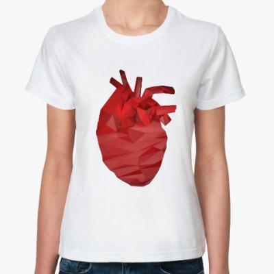 Классическая футболка Сердце 3D