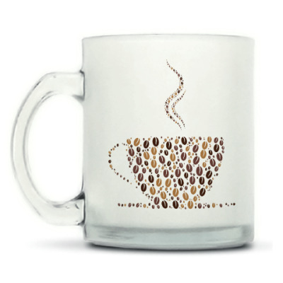 Кружка матовая Кофе из кофейных зерен