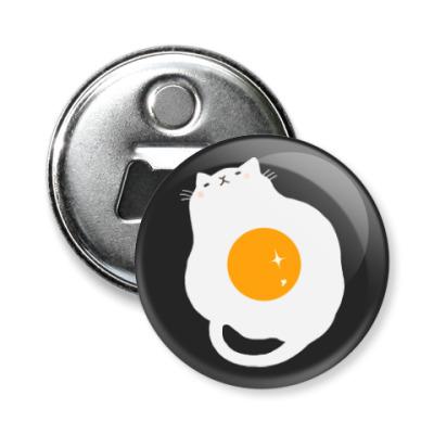 Магнит-открывашка Кот-яичница