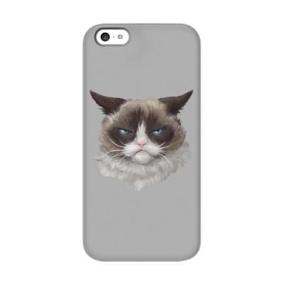 Чехол для iPhone 5c Grumpy Cat / Сердитый Кот