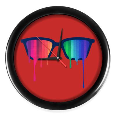 Настенные часы Хипстер: очки