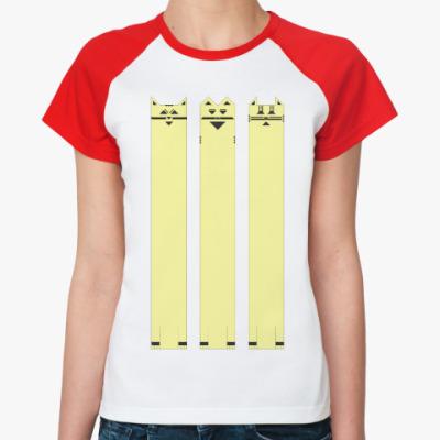 Женская футболка реглан Длинный триКОТаж