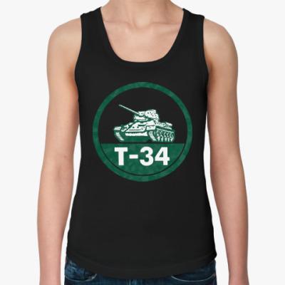 Женская майка Танк Т-34