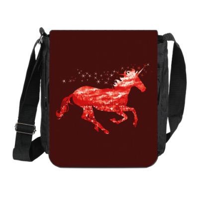 Сумка на плечо (мини-планшет) Рубиновый Единорог