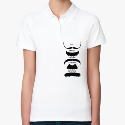 Женская рубашка поло Усы Знаменитостей