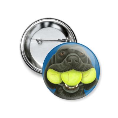 Значок 37мм Лабрик с мячиками