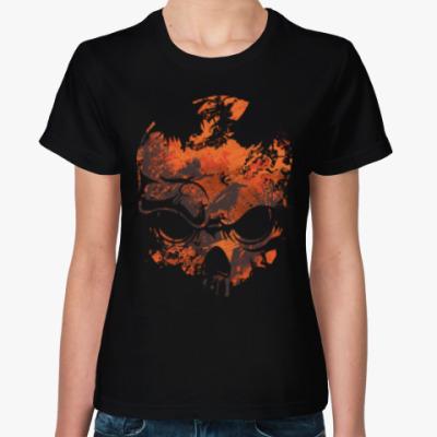 Женская футболка Skull