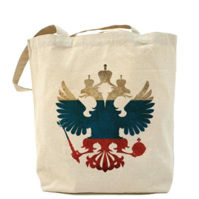 Сумка Герб РФ с флагом