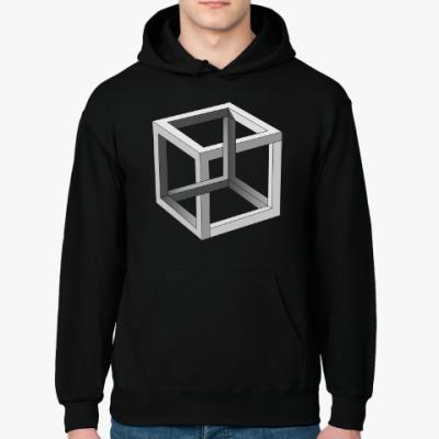 Толстовка худи Невозможный Куб 3D