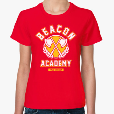 Женская футболка RWBY. Beacon Academy