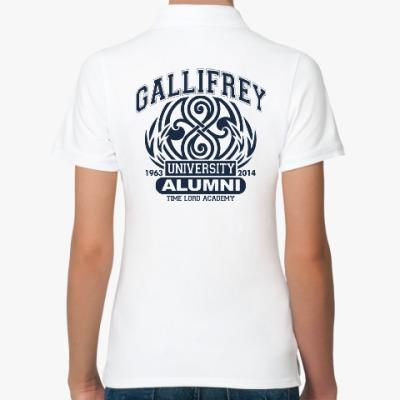 Женская рубашка поло Gallifrey University Alumni
