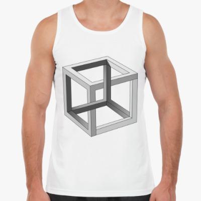 Майка Невозможный Куб 3D
