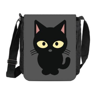 Сумка на плечо (мини-планшет) Черный Котик