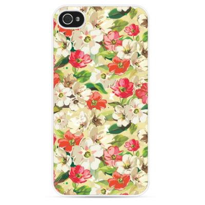 Чехол для iPhone Цветочный, цветы