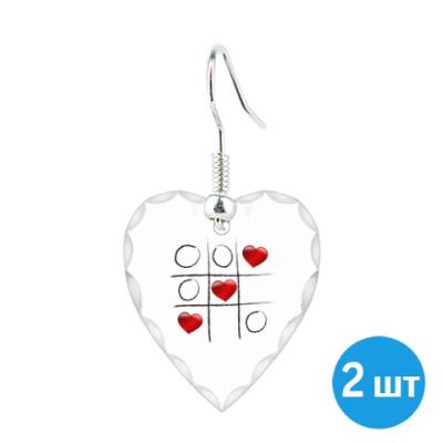 Серьги Любовные крестики - нолики
