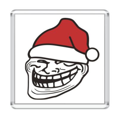 Магнит Новогодний Trollface