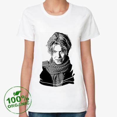 Женская футболка из органик-хлопка David Bowie