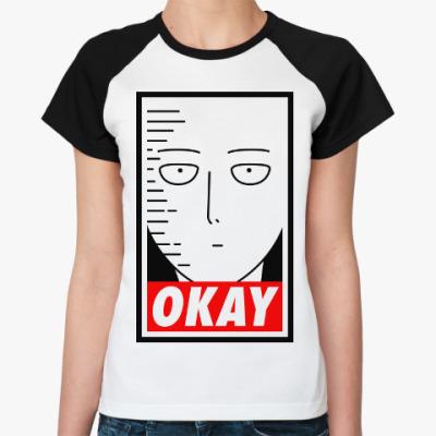 Женская футболка реглан Ванпанчмен