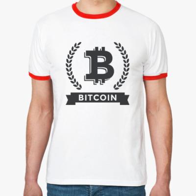 Футболка Ringer-T Bitcoin - Биткоин