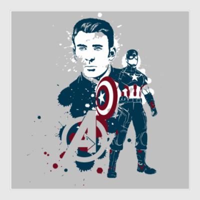 Постер The Avengers - Captain America