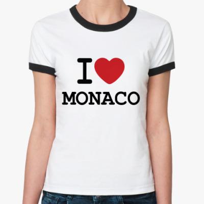 Женская футболка Ringer-T   I Love Monaco