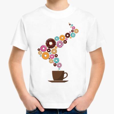 Детская футболка Кофе с пончиками
